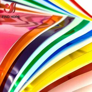 20*120cm Transparent Colourful Window Film Glass Tint Self Adhesive Decor Roll