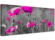 Pink Cheap Canvas Picture of Flowers for Bedroom 1137