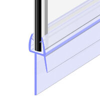 Bath Shower Screen Door Seal Strip for Glass Thickness 4mm - 6mm Seal Gap 23mm