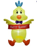 EASTER BUNNY BABY CHICK BANNER AIRBLOWN INFLATABLE YARD DECORATION 5 FT