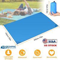 Sand Free Beach Mat Outdoor Picnic Blanket Rug Sandproof Mattress Pad 140x200cm