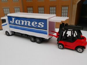 TOY LORRY & FORK LIFT TRUCK PERSONALISED **ANY NAME** Toy Car boy BIRTHDAY GIFT