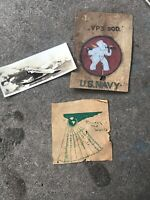 US Navy VP3 Squadron Insingia Painted On Leather (D374