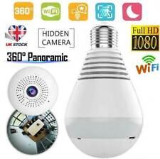 Mini Panoramic Wifi Wireless IP SPY Hidden Camera 1080P HD Security Light Bulb