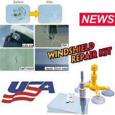 Diy Car Wind Glass Windscreen Windshield Repair Tool Kit Yellow For Chip Crack U