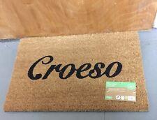 Welsh Coir Door Mat 40cm x 60cm Welcome to WALES 'Croeso' Doormat - LATEX BACK