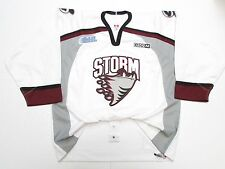 GUELPH STORM OHL AUTHENTIC WHITE PRO CCM HOCKEY JERSEY SIZE 54