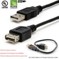 3FT 6FT 10FT 15FT 25 33 FT Hi-Speed USB 2.0 Cable Male to Female Extension Cable