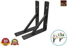 Heavy Duty Angle Braces Shelf Bracket Rustic Mental Railway Slipper Wood Shelves