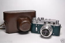 ZORKI 2C Dark Green body Soviet 35mm Rangefinder Camera, Industar-50 (3.5/50)