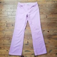 Lavender Womens London Jean Original Classic Size 10 Boot Cut Jeans
