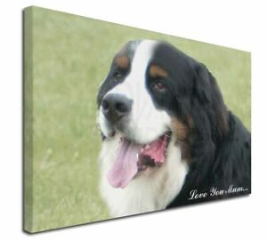 """Bernese Mountain Dog 'Love You Mum' X-Large 30""""x20"""" Canvas Wal, AD-BER5lym-C3020"""