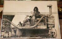 ARTIST JON HUL ORIGINAL ART / DRAWING OF FRANK ZAPPA 1977 SIGNED BY HULL & ZAPPA