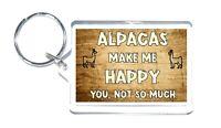 Alpaca Gift - Novelty Keyring - Makes Me Happy - Ideal Present For Birthday Xmas