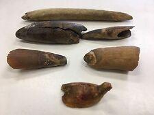Eskimo Indian Artifact Game Bird Figure And Teeth Sections 6 Pcs