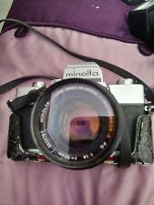minolta srt 202 f=1.4. 35 mm  & Minolta Auto ElectroFlash 280 flash tills case