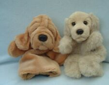 New listing Two plush dog puppy hand puppets - Bloodhound is Keel toys + labrador