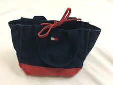 TOMMY HILFIGER VINTAGE Flag Bag Gym Small Cute Toiletry Bag With Ties