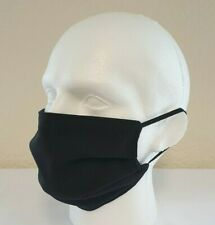 Face Mask Pleated Black (3 Pack) Reusable/Washable, Dual Layered, Made in UK!
