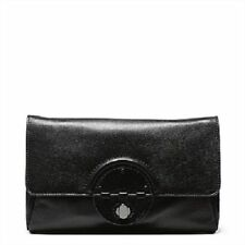 Mimco Plateau Clutch Black Leather Gunmetal Turnlock Pouch Envelope Bag RRP$249
