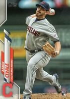 2020 TOPPS BASEBALL ROOKIE CARD # 223 - AARON CIVALE - CLEVELAND INDIANS