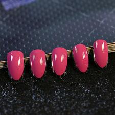 24pcs Rose Red Vampire Queen False Nails Short Stiletto Full Artificial Nail Art