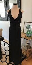 Lulus Black Satin Wrap Wedding Guest Formal Cocktail Party Prom Small Juniors