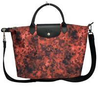 LONGCHAMP 'LE PLIAGE NEO' LIM. ED. RED COLOR MEDIUM SIZE BAG, WITH STRAP, $425
