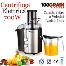 Centrifuga Elettrica Estrattore Succo Frutta e Verdura Acciaio 700W Fiseldem