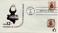 US FDC #1594,1816 Liberty Torch, Andrews (4269)
