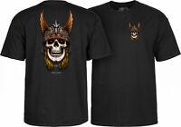 Powell Peralta Andy Anderson Viking Skull Skateboard T-Shirt Black S M L XL 2XL