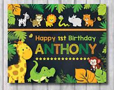 SAFARI BIRTHDAY SIGN Party Supplies Jungle Animals Baby Shower Chalkboard Poster