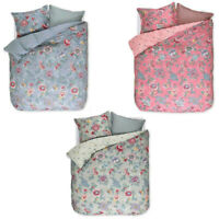 Double duvet cover with pillow cases PIP STUDIO Berry Bird percale