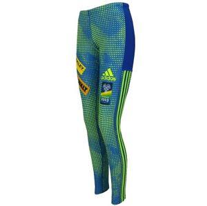 Adidas Damen Ski Langlauf Tight WM Biathlon Hose Pant X-Country SWEDEN Blau/Neon