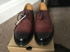 doc martens size10 cherry red antique temperley 1461welted shoes.free uk postage