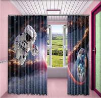 Wandering Astronaut 3D Curtain Blockout Photo Printing Curtains Drape Fabric