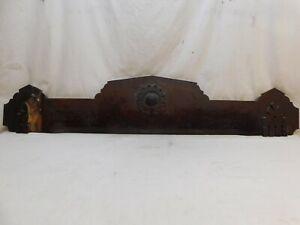 1880s Antique Wooden DOOR PEDIMENT Lintel Header EASTLAKE Style Butternut ORNATE