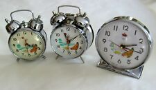 Vintage collection Animated Pecking Chicken Hen Alarm Clock big and small China