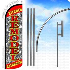Kitchen Bathroom Remodel - Windless Swooper Flag Kit Banner Sign rq