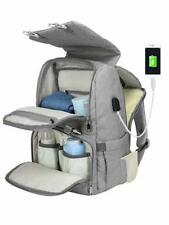 Nappy Diaper Bag Mummy Nursing Baby Care Backpack With USB Charging Port