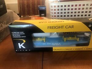 K-Line O Scale Trains scale NASA Flat Car With Two ISO Tanks K691-8034 NIB Rare