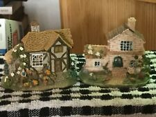 2 x Lilliput Style Miniature Houses Ideal Railway Or Miniature Garden
