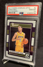 2017-18 Panini Donruss Optic Lonzo Ball The Rookies RC PSA 10