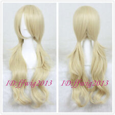 Sucker Punch Baby Doll Long Blonde Wavy Anime Cosplay Hair Wig +a wig cap
