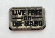 LIVE FREE OR DIE HARD USA ARMY U.S. TACTICAL MILITARY Badges HOOK & LOOP PATCH