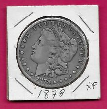 U.S.A MORGAN SILVER DOLLAR 1878 XF LAUREAT HEAD LEFT,DATE BELOW FLANKED BY STARS