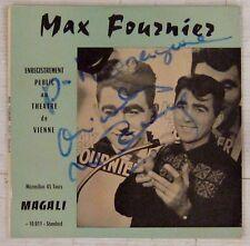 Max Fournier 45 tours  Dédicacé !