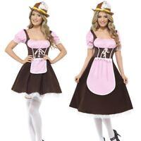 Ladies Tavern Girl Oktoberfest Costume Bavarian Beer Waitress Fancy Dress Outfit