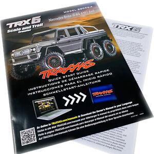 Traxxas TRX6 Mercedes-Benz G63 AMG Model 88096-4 Quick Start Guide Manual Pack