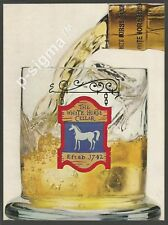 the WHITE HORSE Scotch Whisky-Flip side : 7up Soda -1963 Vintage Print Ad